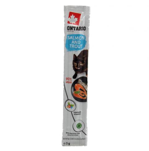 Лакомство для кошек - Ontario Stick for Cat Salmon and Trout, 5 г title=