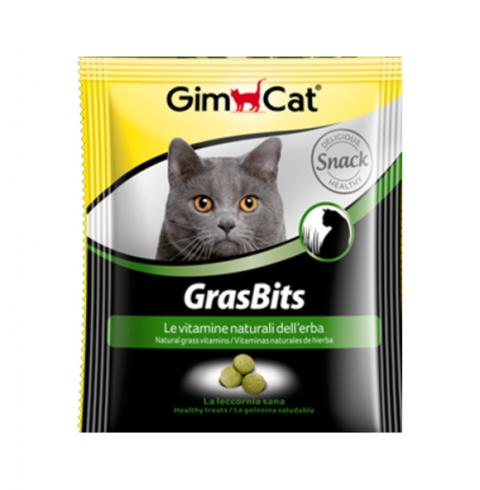 Лакомство для кошек - GimCat GrasBits, 15 г title=