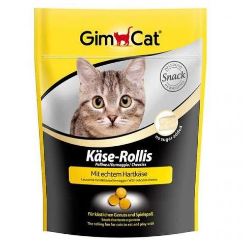 Лакомство для кошек - GimCat Cheese Tabs, 10 г title=