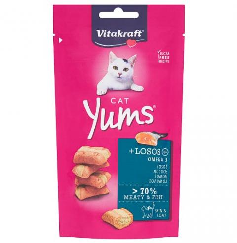Лакомство для кошек – Vitakraft Cat Yums Salmon, 40 г  title=