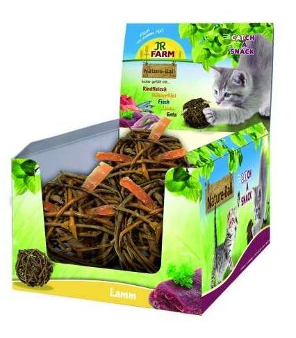 Gardums kaķiem - JR Farm Cat Nature-Ball / ar jēra gaļu 15 gr