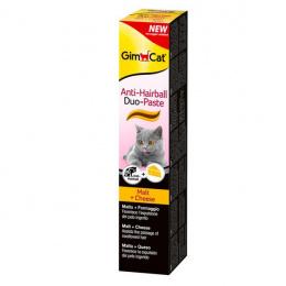 Barības piedeva kaķiem - GimCat Anti-Hairball Duo-Paste, cheese, 50g