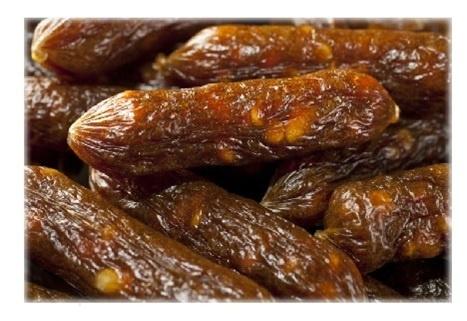 Gardums suņiem - Mira Mar Beef collagen & poultry liver sausages, 1 kg