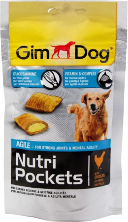Gardums suņiem - GimDog Nutri Pockets Agile, 45g