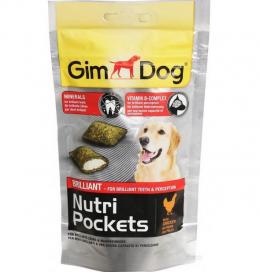 Gardums suņiem - GimDog Nutri Pockets Brilliant, 45g
