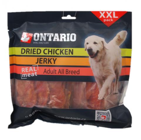 Лакомство для собак - Ontario Dry Chicken Jerky, 500 г title=
