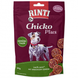 Gardums suņiem - Rinti Extra Chicko Plus Duck and Vegetables, 80 g