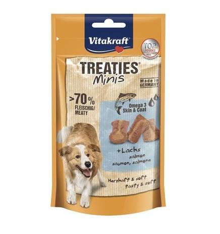 Лакомство для собак – Vitakraft Treaties Minis Lachs and Omega, 48 г title=