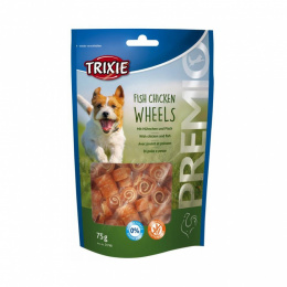 Gardums suņiem - Trixie Premio Fish Chicken Wheels 75 g