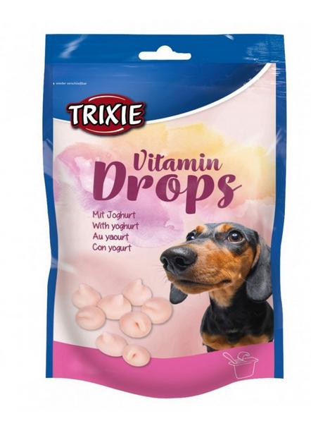 Лакомство для собак - TRIXIE Vitamindrops with Joghurt, 75 г title=