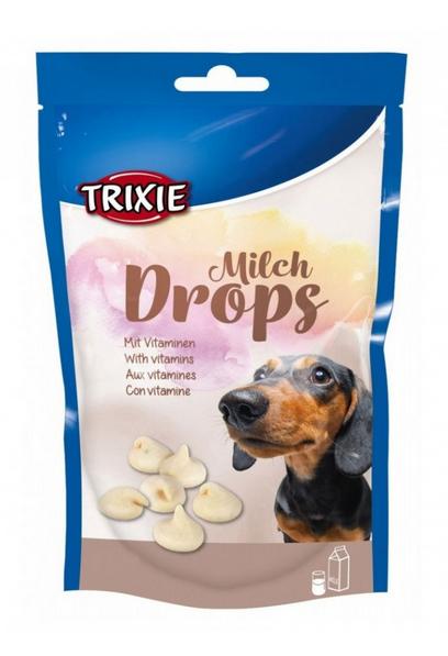 Лакомство для собак - TRIXIE Milchodrops 75 г title=