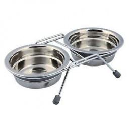 Подставка с мисками - Eat on Feet Bowl Set with Rattle Protection / бесшумная миска 2*0,25 l, 11 cm