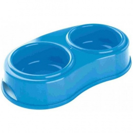 Bļoda - Avesa Double pet bowl, plastmasa, 0.5l, 26*13*5 cm