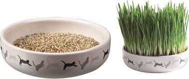 Keramiska bļoda ar zāli kaķiem - Trixie, 50 g