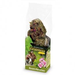 Лакомство для грызунов - JR Farm беззерновое сердечки с лепестками роз, 105 гр