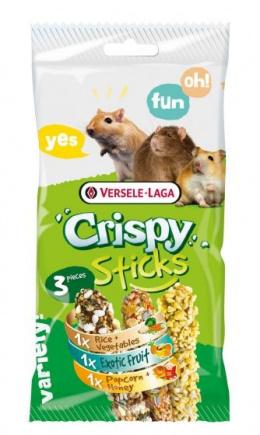 Gardums grauzējiem – Versele-Laga Crispy Sticks Triple Variety Pack Omnivores, 3 x 55 g