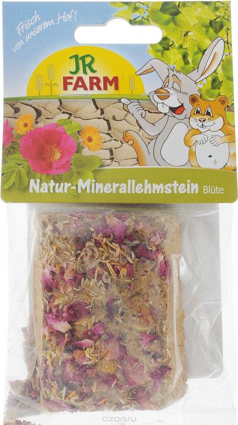 Минеральный камень для грызунов - JR FARM Natural mineral adobe blossom, 100 g title=