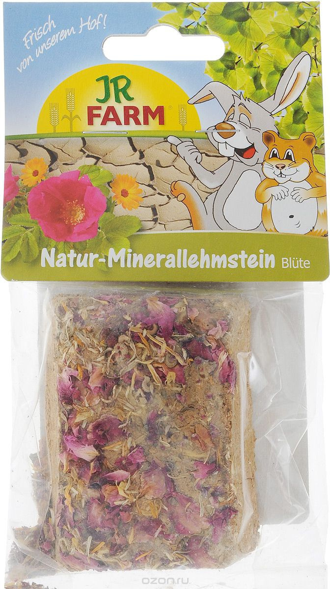 Минеральный камень для грызунов - JR FARM Natural mineral adobe blossom, 100 g