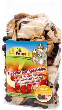 Gardums grauzējiem - JR FARM Rose Hip Apple Chips, 125 g