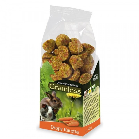 Gardums grauzējiem - JR FARM Grainless Drops Carrot 140 g