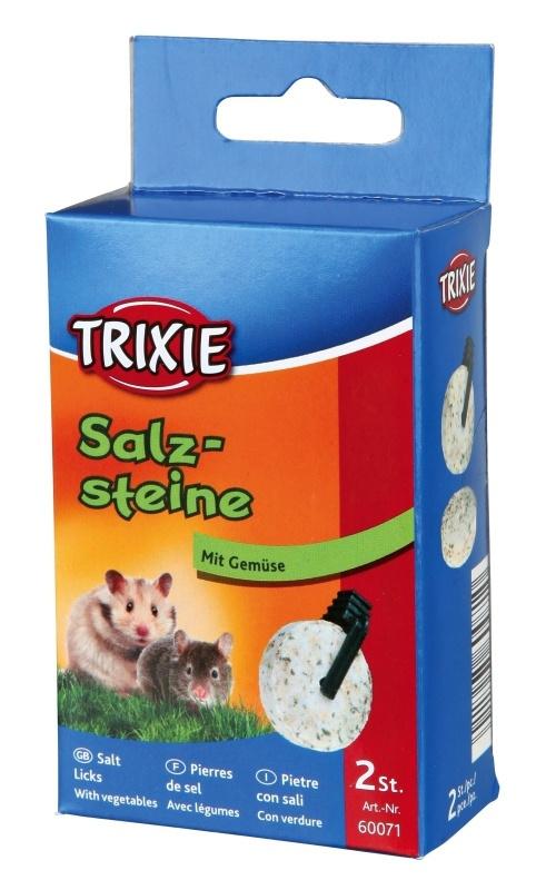 Минеральный камень для грызунов - Trixie соляной камень с зеленью, 2*60 g