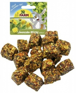 Лакомство для грызунов - JR FARM Wholemeal Dandelion Cubes, 90 г