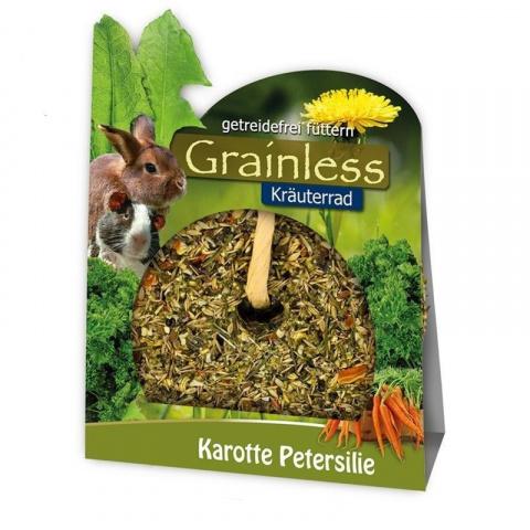 Gardums grauzējiem - JR Farm, Grainless Herbs / Bezgraudu ritenis ar burkāniem, 140 gr