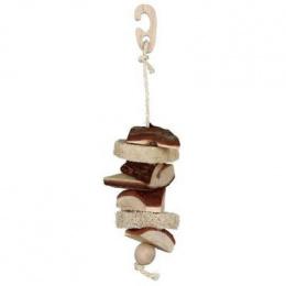 Rotaļlieta putniem - Trixie Natural Living toy with luffa/bell (33 cm)