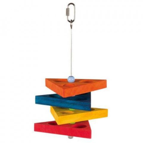 Rotaļlieta putniem - Trixie Snack Triangle/ gardumu turētājs 35 cm
