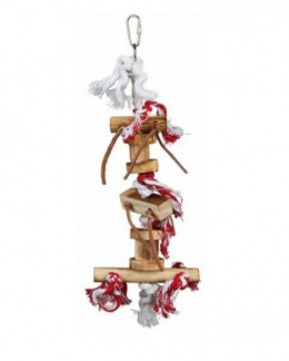 Игрушка для птиц - TRIXIE Wooden toy with leather ribbon, 35 см