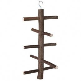Aksesuārs putnu būrim - Trixie koka trepītes putniem, 25 cm