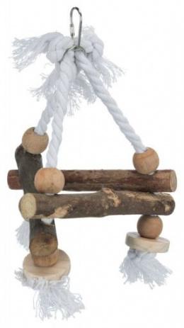 Rotaļlieta putniem -Trixie Natural Living swing on rope, 16 * 16 * 16 cm