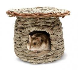 Домик для грызунов - Living World Green, Reed Hut /дом для хомяков
