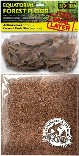 Pakaiši terārijam - Exo Terra ardisias lapas un kokosriekstu čaulas šķiedras, 8,8 L