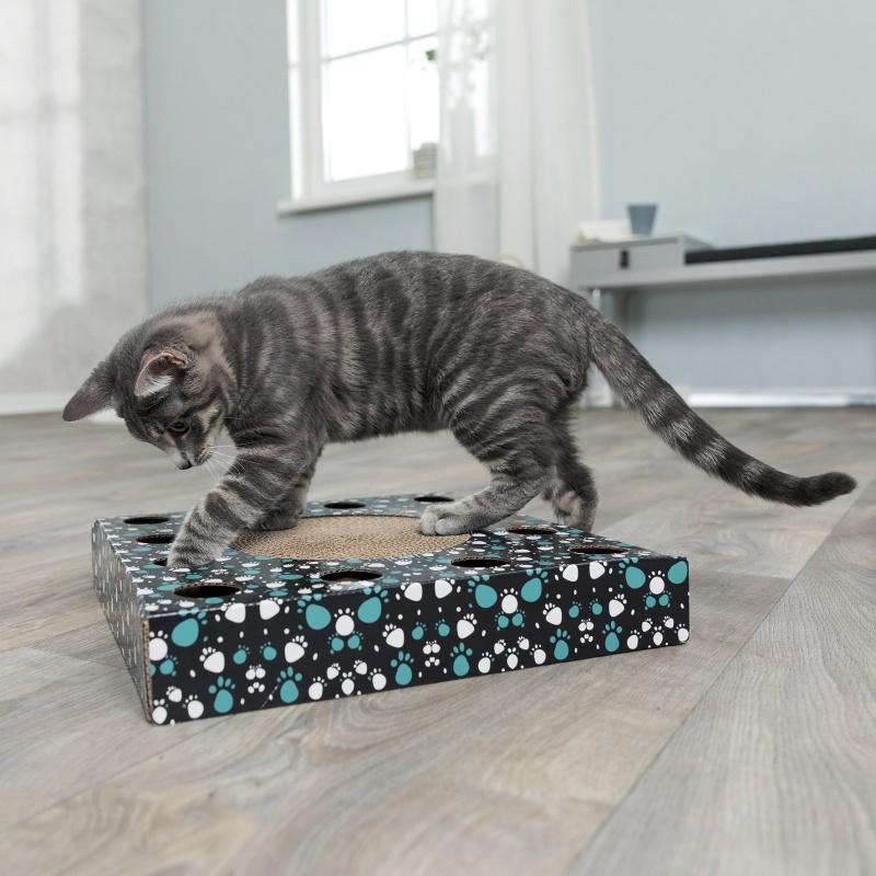 Nagu asināmais kaķiem - Trixie nagu asināmais ar spēļmantiņu kaķiem, 33*33 cm