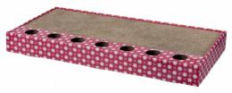 Когтеточка для кошек - Trixie, Scratching cardboard with toys, pink, 48 x 25 см
