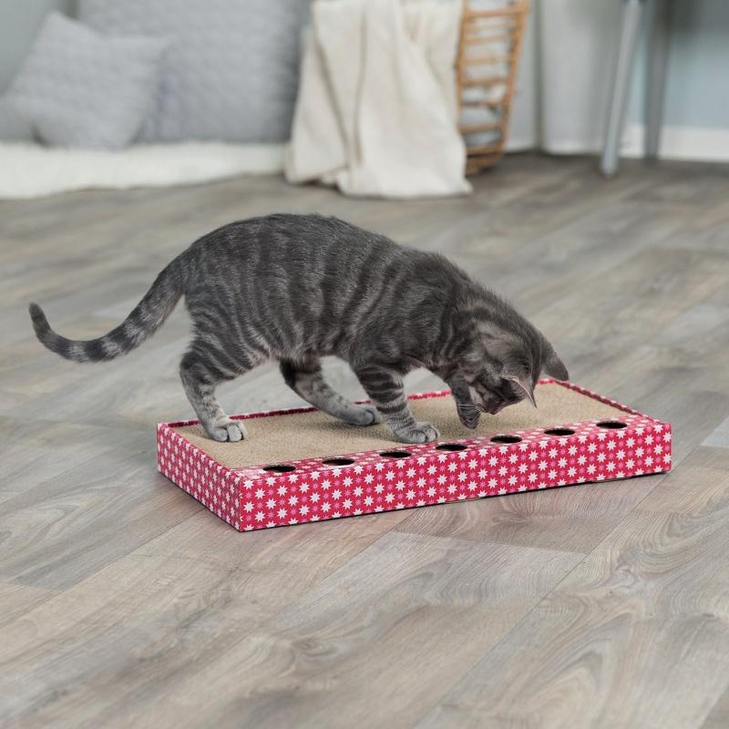 Когтеточка для кошек - Trixie когтеточка с игрушкой, 48*25 см