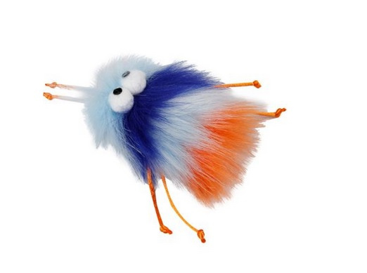 Rotaļlieta kaķiem - All for Paws, Furry Ball Fluffer, blue