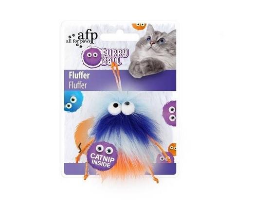 Игрушка для кошек - All for Paws, Furry Ball Fluffer, blue
