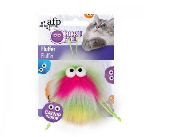 Игрушка для кошек – AFP Furry Ball Fluffer, pink