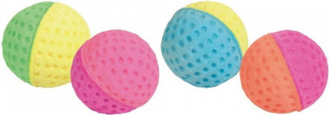 Игрушка для кошек - Trixie Set of Soft Balls Foam Rubber, 4.3 cm, 4 gab