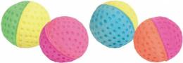 Rotaļlieta kaķiem - Trixie Set of Soft Balls Foam Rubber, 4.3 cm, 4 gab