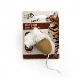 Rotaļlieta kaķiem - AFP Lambswool Snow Mouse