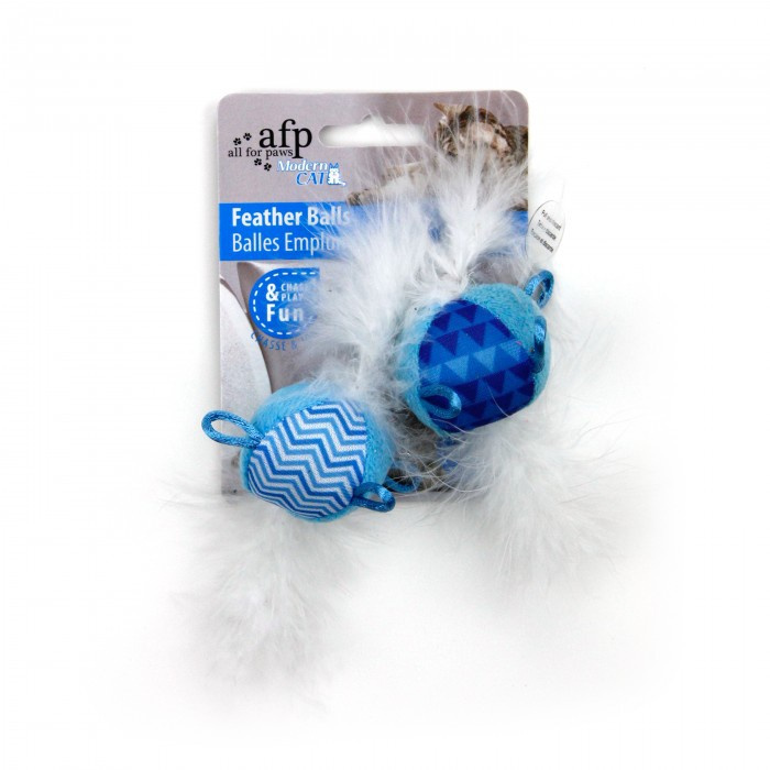 Rotaļlieta kaķiem - AFP Modern Cat Feather Balls with sound