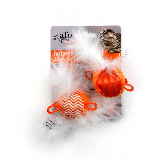 Игрушка для кошек - Modern Cat Feather Balls with sound