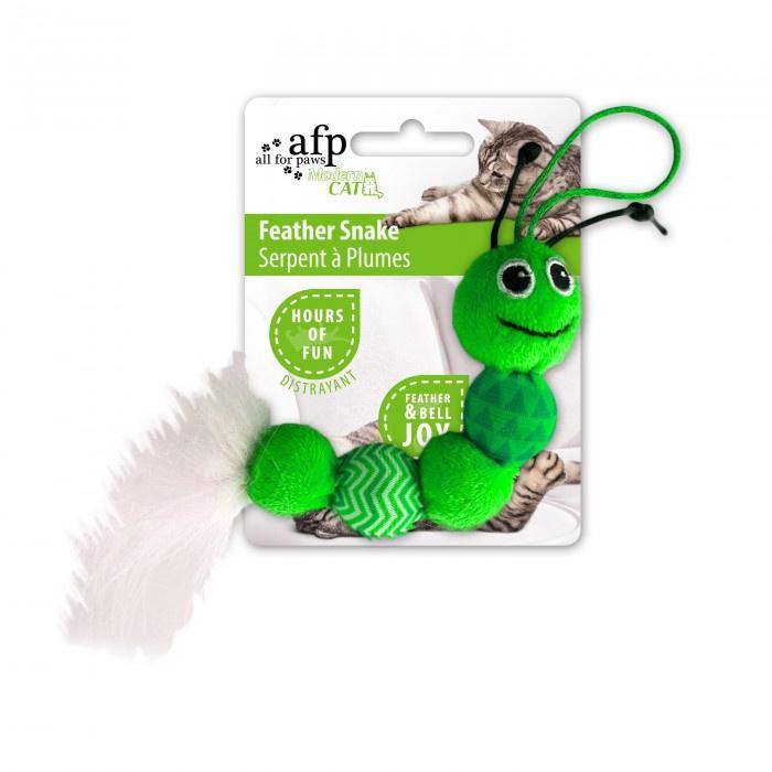 Rotaļlieta kaķiem - Modern Cat Feather Snake