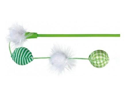 Rotaļlieta kaķiem - Trixie Playing Rod with Balls, 42 cm
