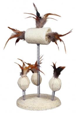 Rotaļlieta kaķiem - Set of Luffa Toys on a Spring, 30 cm
