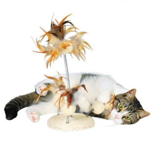 Игрушка для кошек - Set of Luffa Toys on a Spring, 30 см