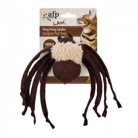 Игрушка для кошек - AFP Lambswool-Ping Pong Spider